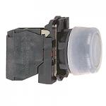 Бутон с прозрачен силикон и гумено уплътнение (1 N/O) без маркировка, черен