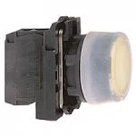 Бутон с прозрачен силикон и гумено уплътнение (1 N/O) без маркировка, жълт