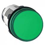 Сигнална лампа с вграден LED 120 V AC, зелен