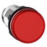 Сигнална лампа с вграден LED 230 V AC, червен
