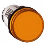Сигнална лампа с вграден LED 230 V AC, оранжев
