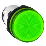 Сигнална лампа със захранване на крушка BA 9s през резистор 230 V AC, зелен