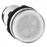 Сигнална лампа със захранване на крушка BA 9s през резистор 230 V AC, прозрачен