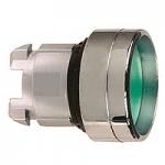 Зелен бутон с вградена глава с вързвръщаема пружина, без маркировка