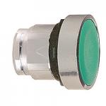 Зелен бутон наравно с повърхността, натискане и освобождавне чрез натискане, без маркировка