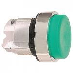 Зелена глава за изпъкнал бутон, натискане и освобождавне чрез натискане, без маркировка