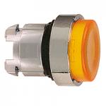 Жълта глава за изпъкнал бутон, натискане и освобождавне чрез натискане, вграден LED