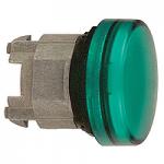 Зелена контролна лампа с обикновени обективи, с възможност за вмъкване на надпис, вграден LED