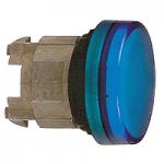Синя контролна лампа с обикновени обективи, вграден LED