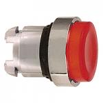 Червена глава за изпъкнал бутон, вграден LED