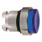 Синя глава за изпъкнал бутон, вграден LED с обикновенна леща, без маркировка