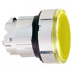 Оранжева глава за бутон наравно с повърхността, вграден LED с обикновенна леща, без маркировка