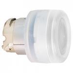 Бяла глава за бутон наравно с повърхността, вграден LED с прозрачна обвивка, несъвместим с държач за табели