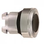 Бяла глава за бутон наравно с повърхността, вграден LED със светещ пръстен