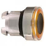 Оранжева глава за бутон наравно с повърхността, вграден LED със светещ пръстен