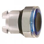 Синя глава за бутон наравно с повърхността, вграден LED със светещ пръстен