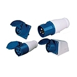 Industrial plugs and receptacles