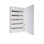 Distribution surface board xBoard BF 5 x 33, with plain door, White
