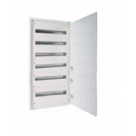 Distribution surface board xBoard BF 6 x 33, with plain door, White
