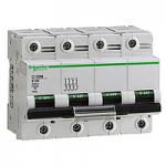 Miniature circuit breaker C120N, 4P, 100 A, D, 20 kA