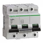 Miniature circuit breaker C120H, 3P, 100 A, D, 30kA