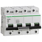 Miniature circuit breaker C120H, 4P, 100 A, D, 30kA