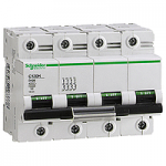 Miniature circuit breaker C120H, 4P, 125 A, D, 30kA