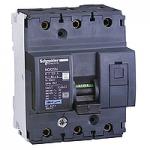 Miniature circuit breaker NG125N, 3P, 100 A, D, 25 kA