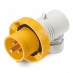 Plug EUREKA IP67, 100-130 V, 16 A, 2+E, 4 h, agled outlet