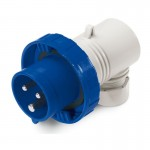 Plug EUREKA IP67, 200-250  V, 32 A, 2+E, 6 h, agled outlet