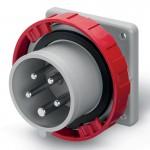 Inlet IP67, 440-460 V, 16 A, 3+N+E, 11 h
