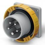 Inlet IP67, 100-130 V, 32 A, 3+N+E, 4 h