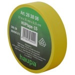 Insulating tape, 15mm, 10m, Yellow