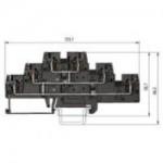 Multi-tier block WKFN 2,5 E3/VB/35 Black 2.5 mm²