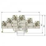 Multi-tier block WKFN 2,5 E3/D/D/SL/35 Gray 2.5 mm²