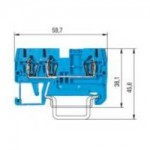 Duo-modular terminal WKFN 2,5 D1/2/35 Blue 2.5 mm²