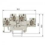 Multi-tier block WKFN 2,5E/35 Gray 2.5 mm²