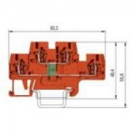 Function block WKFN 2.5 E/35/1D/2G with inverted diode, Orange