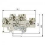 Multi-tier block, combined WKFN 2,5E/N/SL/35 Gray 2.5 mm²