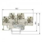 Multi-tier block, combined WKFN 2.5E/D/SL/35 Gray 2.5 mm²
