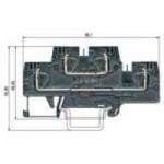 Multi-tier block WKFN 4 E/VB/35 Gray 4 mm²