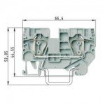 Feed-through block WKFN 6/35 Gray 6 mm²