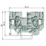 Feed-through block WKFN 10/35 Gray 10 mm²
