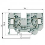 Feed-through block WKFN 16/35 Gray 16 mm²