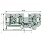 Feed-through block WKFN 16 D1/2/35 Gray 16 mm²