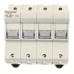 Fuse-holder, LV, 50 A, AC 690 V, 14 x 51 mm, neutral only, IEC