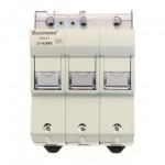 Fuse-holder, LV, 50 A, AC 690 V, 14 x 51 mm, 3P + Microswitch, IEC