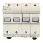 Fuse-holder, LV, 50 A, AC 690 V, 14 x 51 mm, 3P+N, IEC, indicating