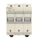 Fuse-holder, LV, 50 A, AC 690 V, 14 x 51 mm, 3P + N + Microswitch, IEC