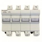 Fuse-holder, LV, 125 A, AC 690 V, 22 x 58 mm, 4P, IEC